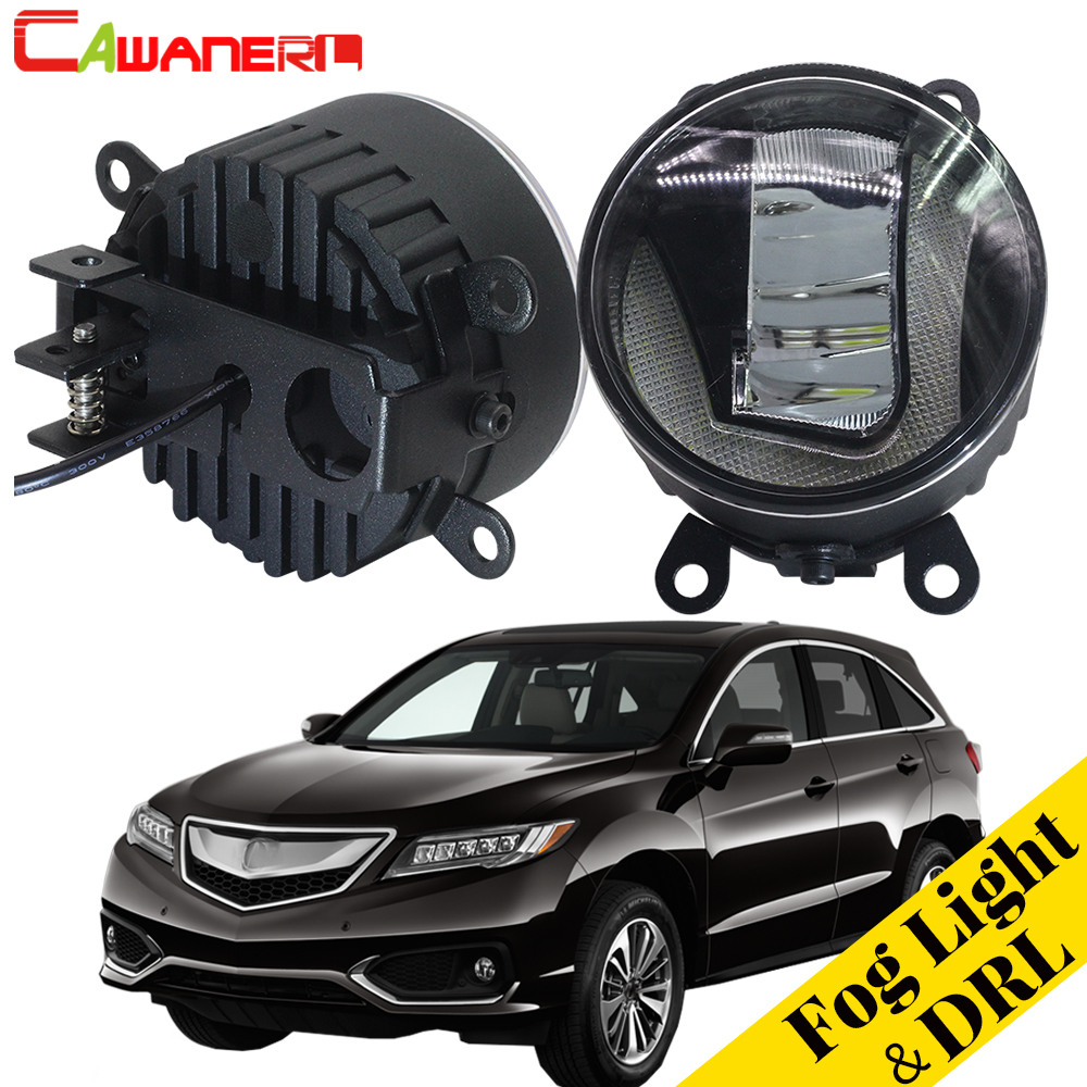 Cawanerl Car Accessories LED Fog Light Daytime Running Lamp DRL White 12V Styling For Acura RDX 2010 2011 2012 2013 2014 2015 car white yellow daytime running light drive lamp for buick regal gs 2010 2011 2012 2013 2014 2015 led drl daylight fog lamp