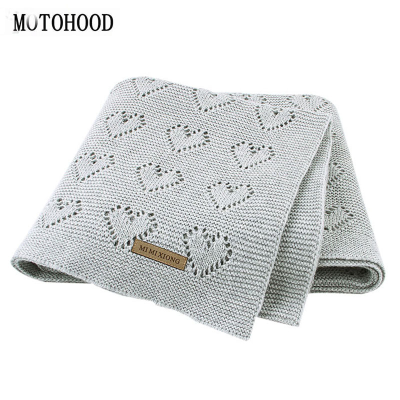 MOTOHOOD Baby Blankets Knitted Newborn Swaddle Wrap Soft Toddler Sofa Crib Bedding Quilt Winter Autumn Baby Stroller Blanket