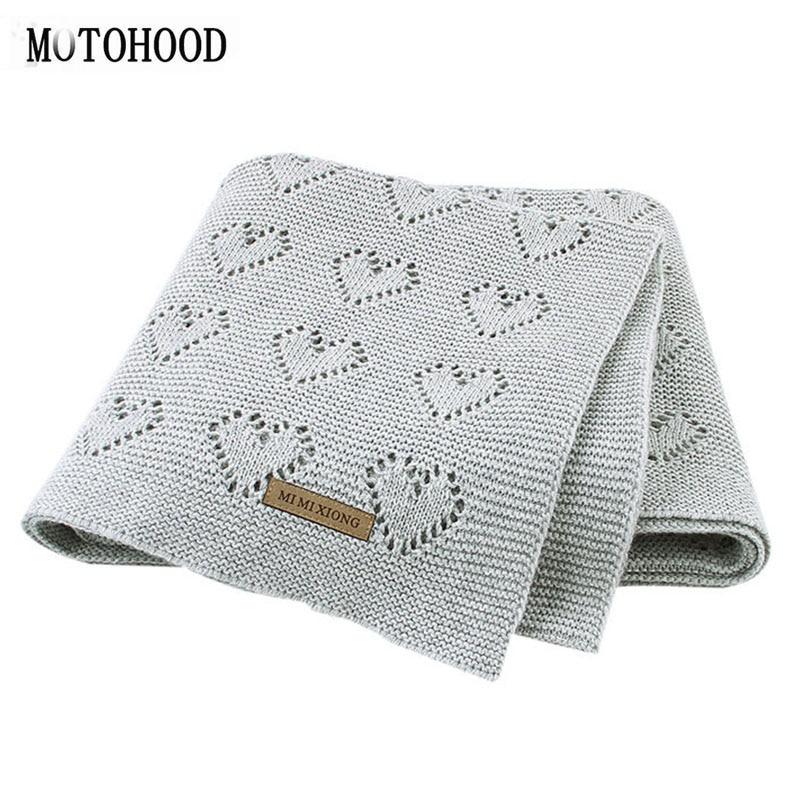 MOTOHOOD Baby Blankets Knitted Newborn Swaddle Wrap Soft Toddler Sofa Crib Bedding Quilt Winter Autumn Baby Stroller Blanket