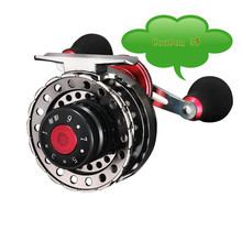 New NND-H65 Gear ratio 2.6:1 Semimetal Raft Fishing Left/Right Hand Fly Fishing Reel Ice Fishing Raft Reel Fly Reel