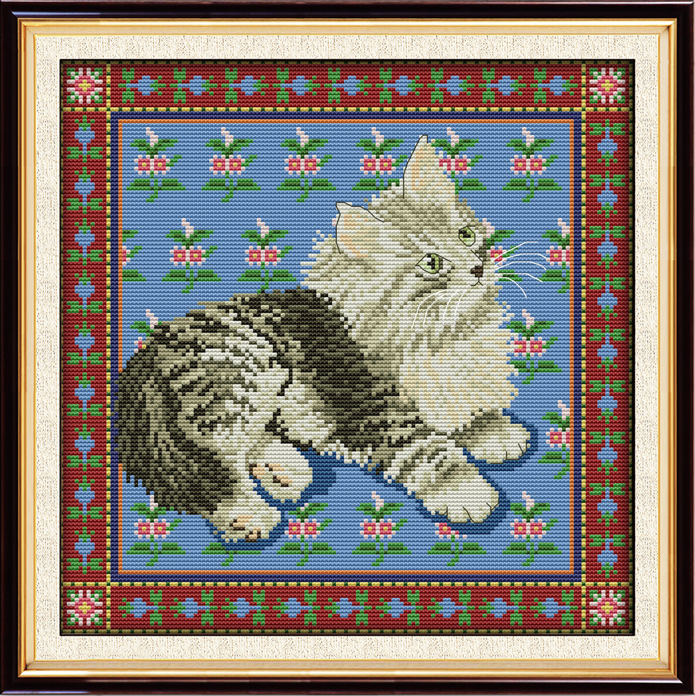 Baby Loins Printed On Canvas Dmc Counted Chinese Cross Stitch Kits Printed Cross-stitch Set Embroidery Needlework Arts,crafts & Sewing