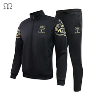2018 Men Sportswear Hoodies Set New Autumn Slim Suit Clothes Tracksuits Male 2 Pieces Sweatshirts Coats