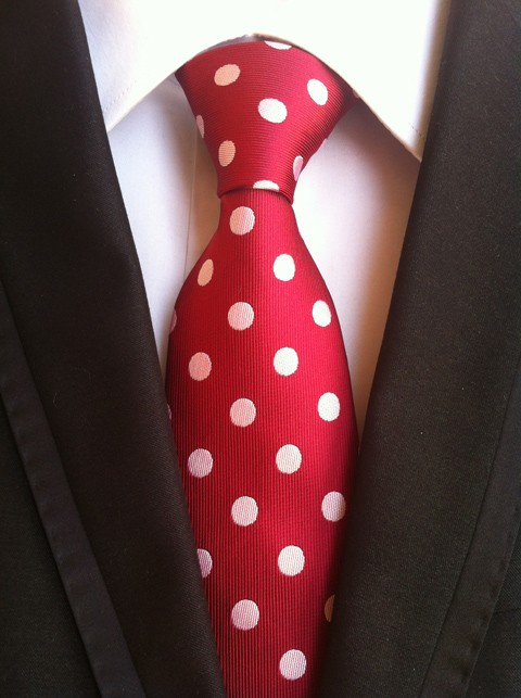 Дизайнерский комплект шейных платков 8 см формальный галстук красный с розовым крупный горох Gravata тканый Карманный квадратный для свадьбы
