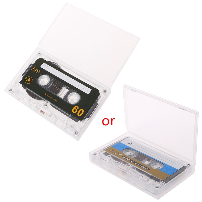 OOTDTY 1PC Plastic Standard Cassette Blank Tape Empty 60 Minutes Audio Recording For Speech Music Player Black New Tapes ...