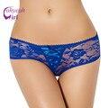 Pw5116 colores multi women underwear negro/blanco/color de rosa/azul de encaje bragas atractivas transparentes erótica más el tamaño crotchless bragas