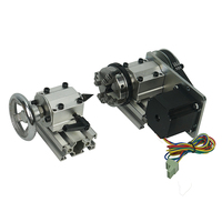 CNC Router Part DIY CNC 4th Axis Rotary Axis with Chuck for Wood Miiling Machine Lathe Tools -
