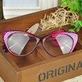 Чтения леопард очки кадр женщин бренда равнина очки зрелище кошка очки девушки подарок на день рождения wq-q5 * лы