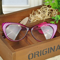 Leopard reading eyeglasses frame women brand plain eye glasses Spectacle cat eye glasses Girls birthday gift WQ*LY