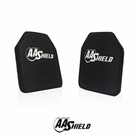 AA Shield Bullet Proof Ultra Light Weight Hard Plate Body Armor Inserts Shooter Cut 2 Standalone