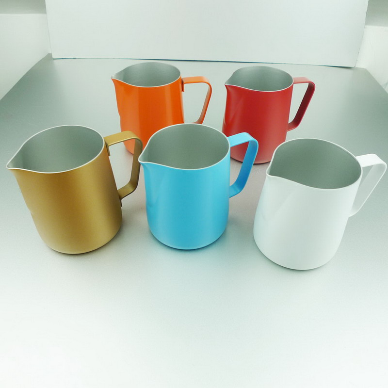 Non-stick Stainless Steel Espresso Coffee Latte Milk Frothing Jug 350ML 5 Colors Free Shipping