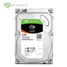 Seagate 2tb fire cuda gaming sshd (unidade híbrida de estado sólido) 7200 rpm sata 6 gb/s 64mb cache 3.5 Polegada disco rígido (��)