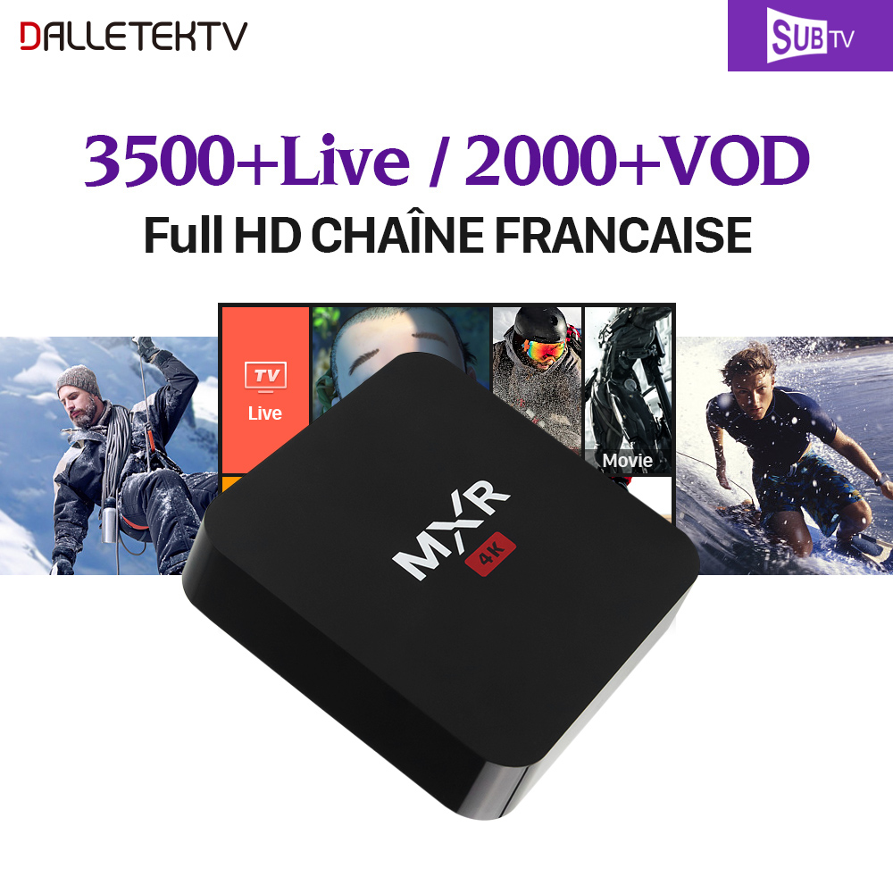 1 Year SUBTV Code Full HD French IPTV Subscription 3500 Arabic France Canada Russia Norway IPTV Box MXR Smart Android 6.0 TV Box