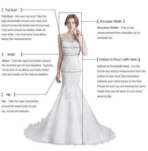 Image 5 - Luxury Mermaid Wedding Dresses With Detachable Train 2020 Off Shoulder Lace Appliques Vestido De Novia Modest Stain Bridal Gowns