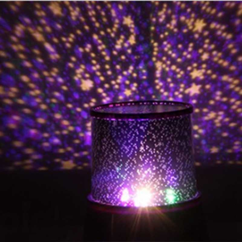 Star Light Projector LED Night Light Sky Star Moon Master Children Kids Baby Romantic Colorful Decor Battery Projection Lamp