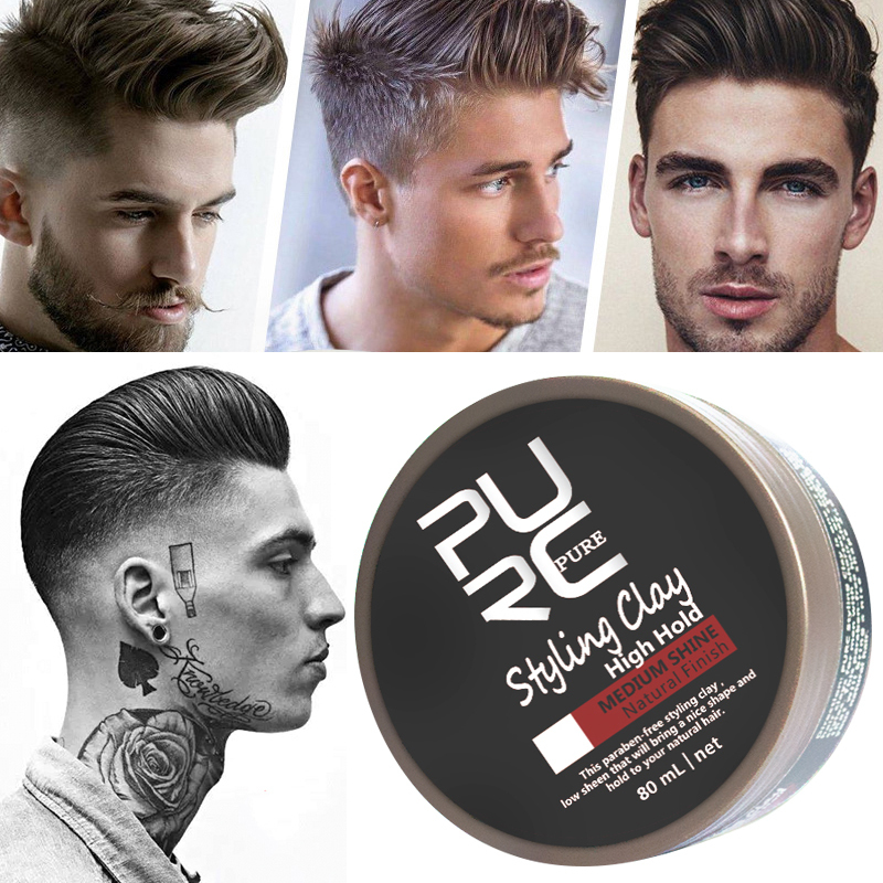 100g Fashion Matte Finished Hair Styling Clay Daily Use Mens Hair High Clay Strong Outlet Low Shine Hair Styling Wax TSLM1