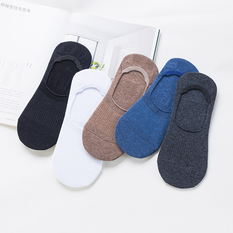 Men's Socks Cotton Invisible Socks Low To Help Shallow Mouth Silicone Non-Slip Socks Wholesale Summer Wild Men's Socks