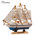 Creative Wooden Sailboat Model Kit Kids Birthday Gifts Ancient Fishing Boat Model Decoration Crafts Ship Smooth Sailing