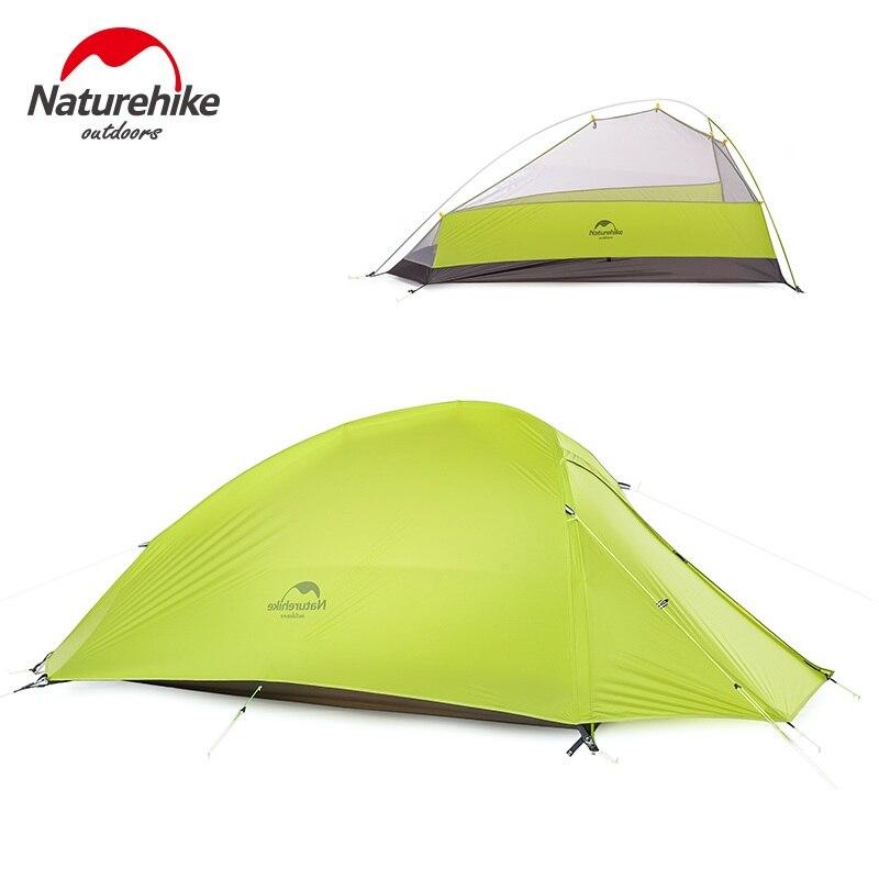 Naturehike 3 человек большой палатка Открытый Сверхлегкий Семья Палатки Лагеря 20D нейлон силиконовые Tente серый зеленый оранжевый