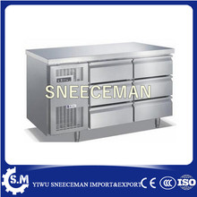 2017 Commercial Supermarket Equipment 9 Drawers Chef Bases Under counter Chiller working bench