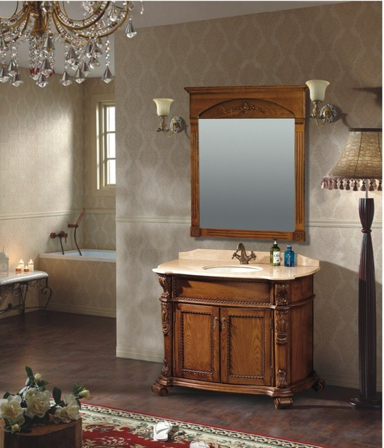 Nouveau Design Antique Style Brun Couleur Salle De Bains En Bois ...
