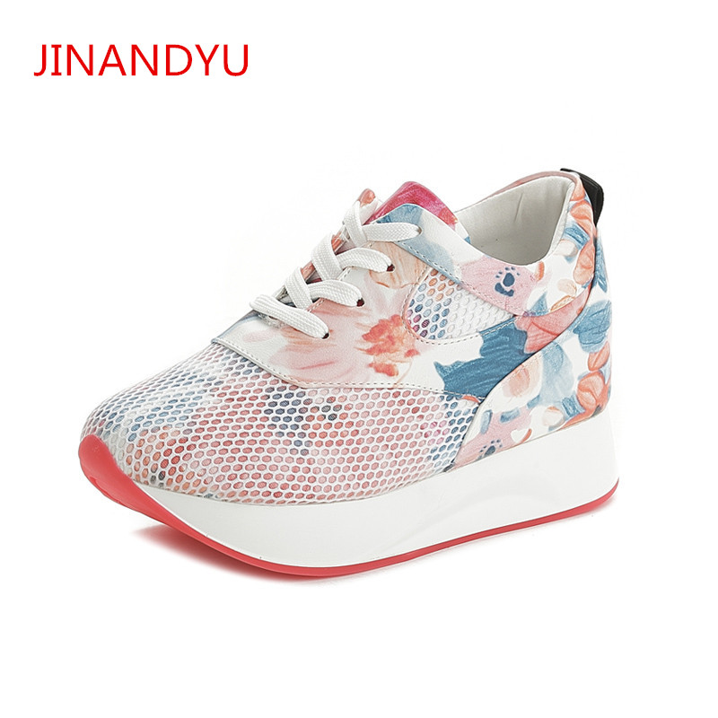 Fashion Summer Mesh Ladies Platform Sneakers Women Shoes Platform Flat Shoes for Women Trainers Zapatillas Mujer Casual in Women 39 s Flats from Shoes