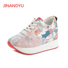 Fashion Summer Mesh Ladies Platform Sneakers Women Shoes Flat for Trainers Zapatillas Mujer Casual