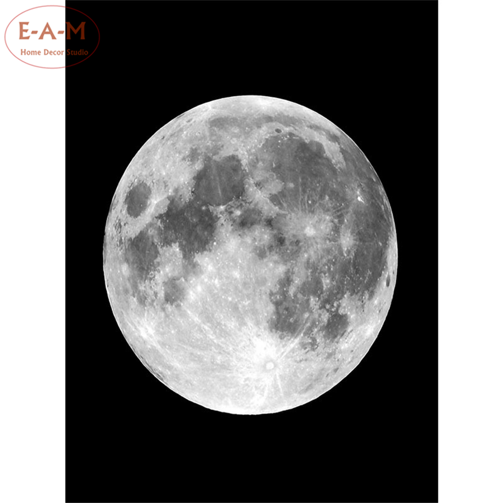 Moon Variety Astronomy Photos Cotton Canvas Art Print Painting Poster Wall Pictures Home Decoration Wall Decor No Frame C in Painting Calligraphy from Home Garden