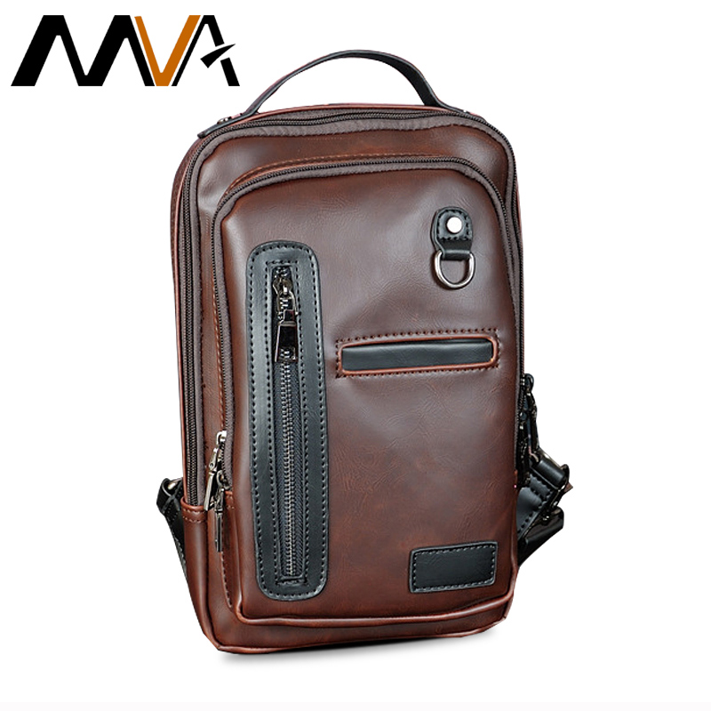 MVA Multifunction Messenger Bag Men Leather Shoulder Crossbody Bag For Man Vintage Shoulder Handbag Small PU Leather Men Bags augur men s messenger bag multifunction canvas leather crossbody bag men military army vintage large shoulder bag travel bags