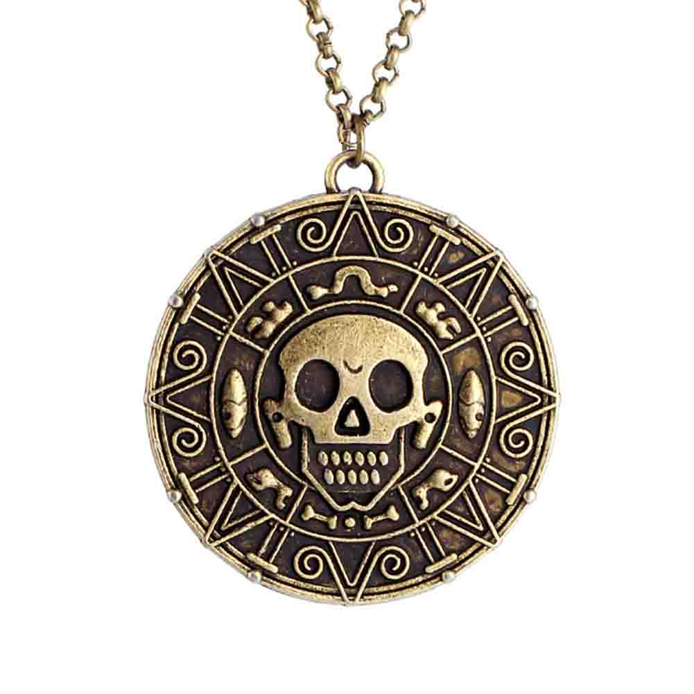 Pirates of the Caribbean JACK SPARROW Coin Pendant Chain ...