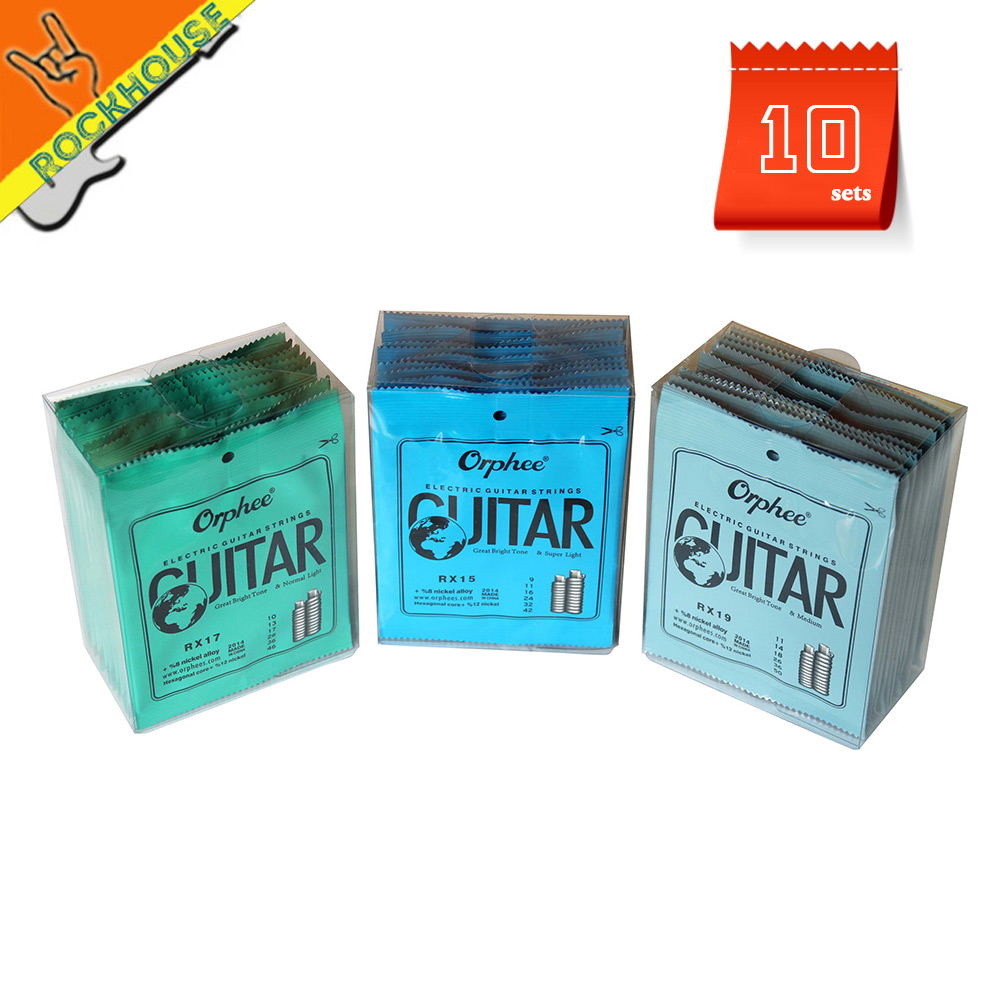 10sets/lot Orphee Hexagonal carbon steel electric guitar strings RX19 powerful bass for heavy rock RX15 best for speed solo rotosound rs66lc bass strings stainless steel
