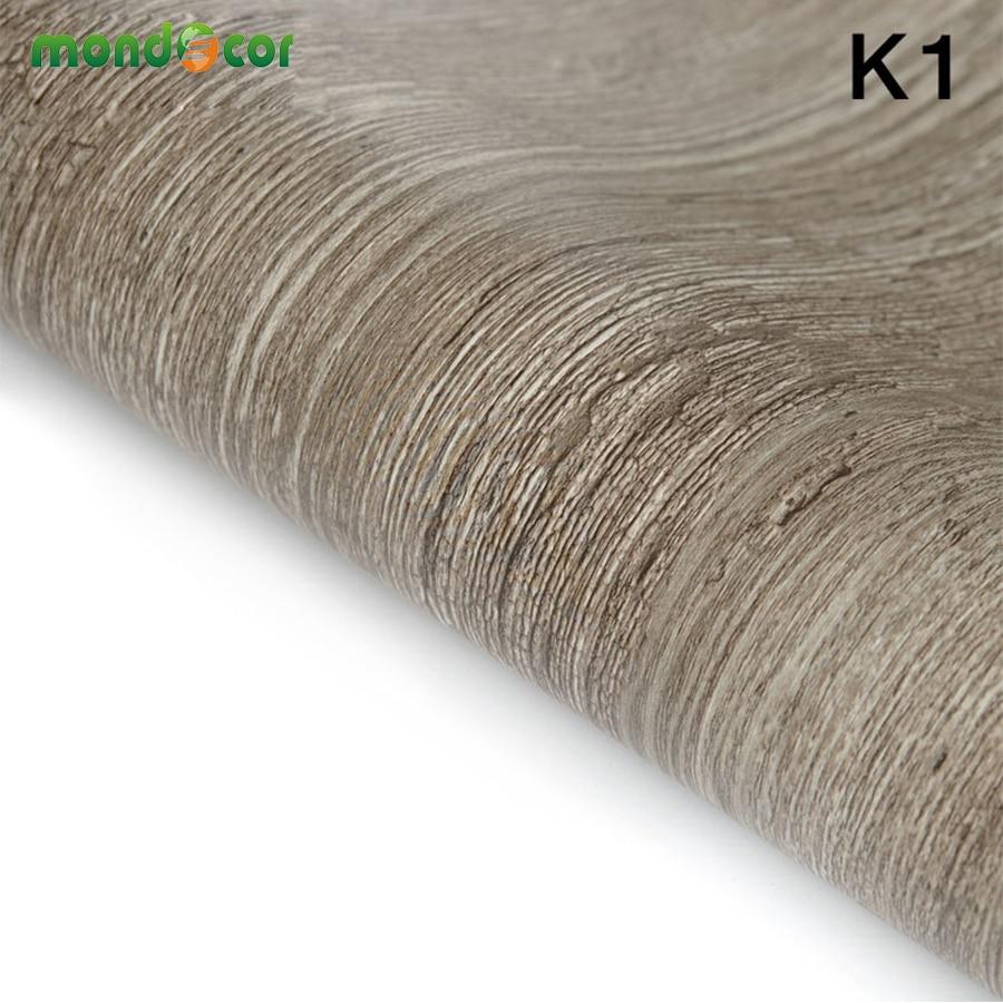 5m/10m Vinyl Wall Covering Home Decor PVC Fabric Sticker Roll Wallpaper  Furniture Wood Grain Part 47