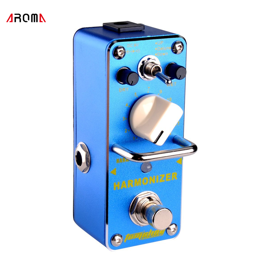 AROMA AHAR-5 HARMONIST Pitch Shifter Guitar Effect Pedal 3 Modes Pitch Shifting Harmony Effects Aluminum Alloy Body True Bypass aroma adr 3 dumbler amp simulator guitar effect pedal mini single pedals with true bypass aluminium alloy guitar accessories