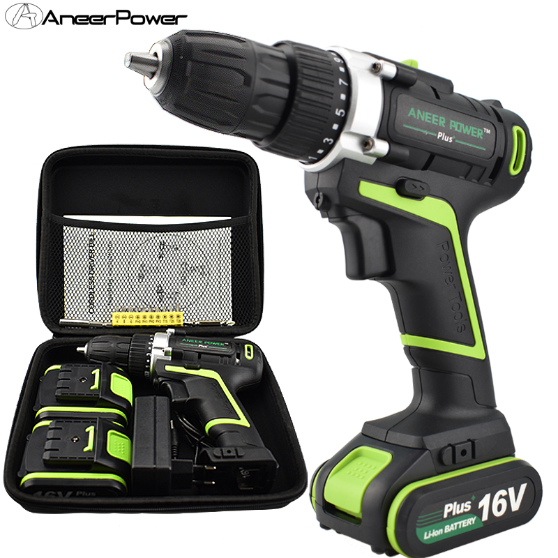 цена на 16v Plus Tools Cordless Screwdriver Hand Bag Electric Drill Hand Drill Batteries Mini Drillling Power Tools Battery Screwdriver
