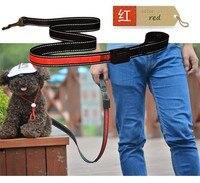 FD54 Free Shipping Pet Dog Leashes Solar Light Emitting Leads USB Charge Dog Leashes High Quality