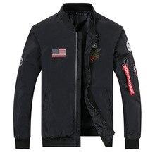 drop shipping 2018 new arrivals autumn men military jacket outwear slim fit pilot bomber jacket coat AXP115 drop shoulder zipped bomber jacket