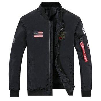 drop shipping 2020 new arrivals autumn men military jacket outwear slim fit pilot bomber coat AXP115