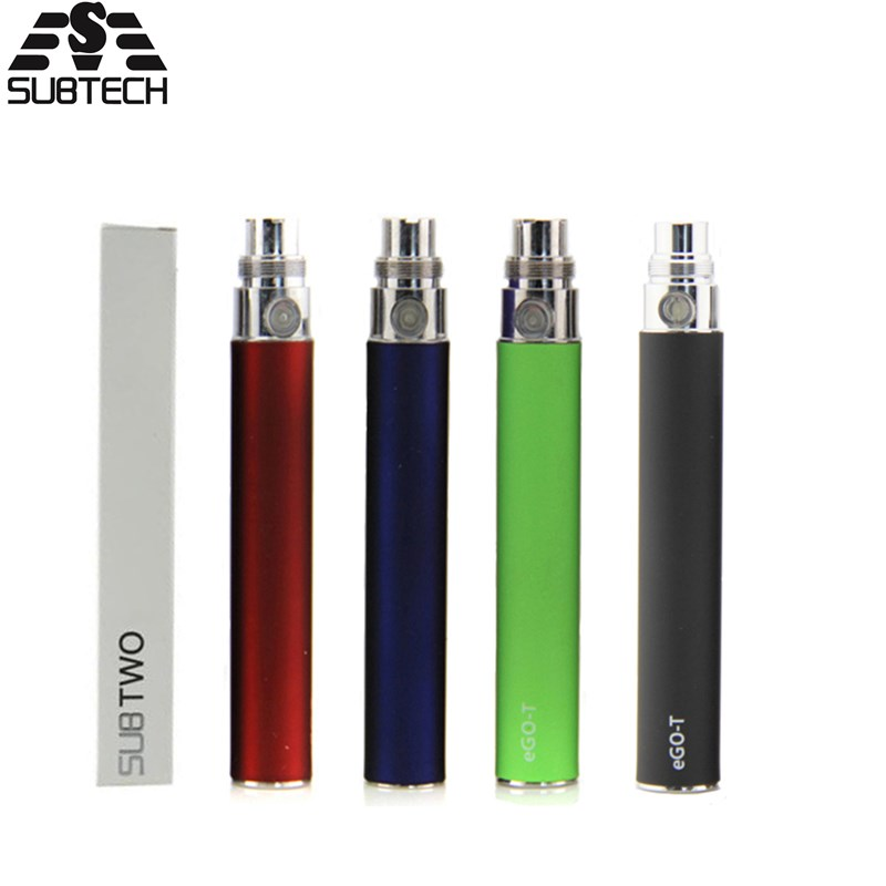 SUB TWO EGO T Battery 650mah 900mah 1100mah vaporizer electronic ego vape for ce4 ce5 h2 atomizer vape battery ce5 cigarro eletronico e ce5 650 900 1100mah ego 50pcs lot ego ce5