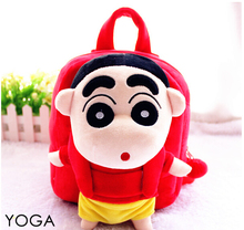 1PC 25cm cartoon Crayon Shin-chan funny plush doll backpacks cute students small shoulder bag Satchel girl toy gift of baby