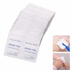 Novo 100 Pçs/caixa Ferramenta Almofada de Algodão Embebido Em Álcool Swab Médica Sachê Antibacteriana Limpador