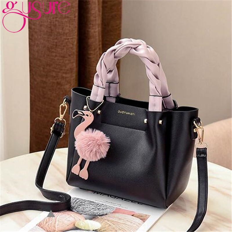 Tracolla Con Cuoio Elaborazione Nuove wine gray Design Decorazione Moda Dell'unità A Pelo Delle 2019 Borse Spalla Donne Palla brown Di Gusure Black white Flamingo Per Red Femminile Borsa pink YaT8wq7x