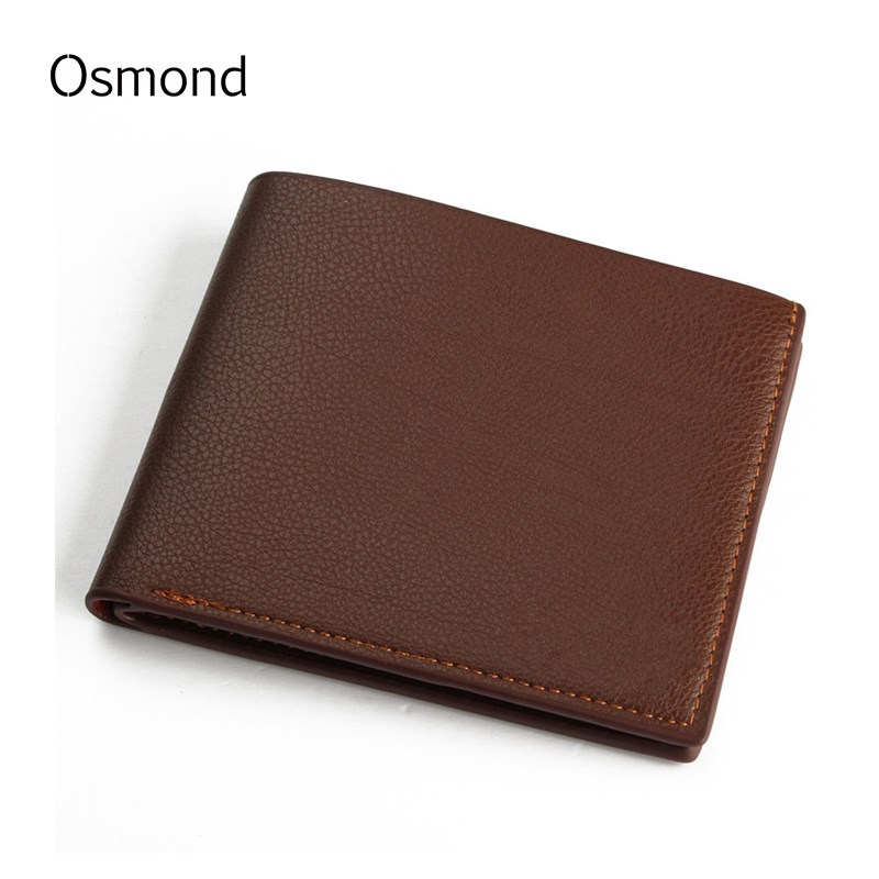 Osmond Men Wallets Pu Leather Short Purse Business Notecase Bifold Wallet Small Coin Purses Mens Card Holders Solid Color japan anime katekyo hitman reborn wallet cosplay men women bifold coin purse