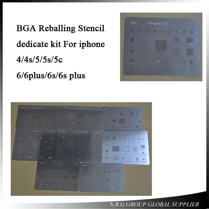 Reballing-Stencil iPhone 4 High-Quality 7plus for 4s 5 5s/5c/6/.. Dedicate-Kit 11pcs/Lot