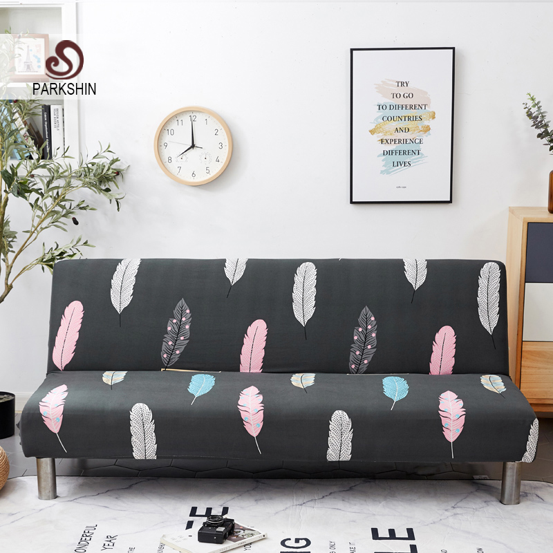 Parkshin Nordic All inclusive Folding Sofa Bed Cover Tight Wrap Sofa Towel Couch Cover Without Armrest housse de canap cubre-in Sofa Cover from Home & Garden