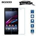 Protector de pantalla de cristal templado para sony xperia z1 compact z1 teléfono móvil película protectora para sony z1 vidrio