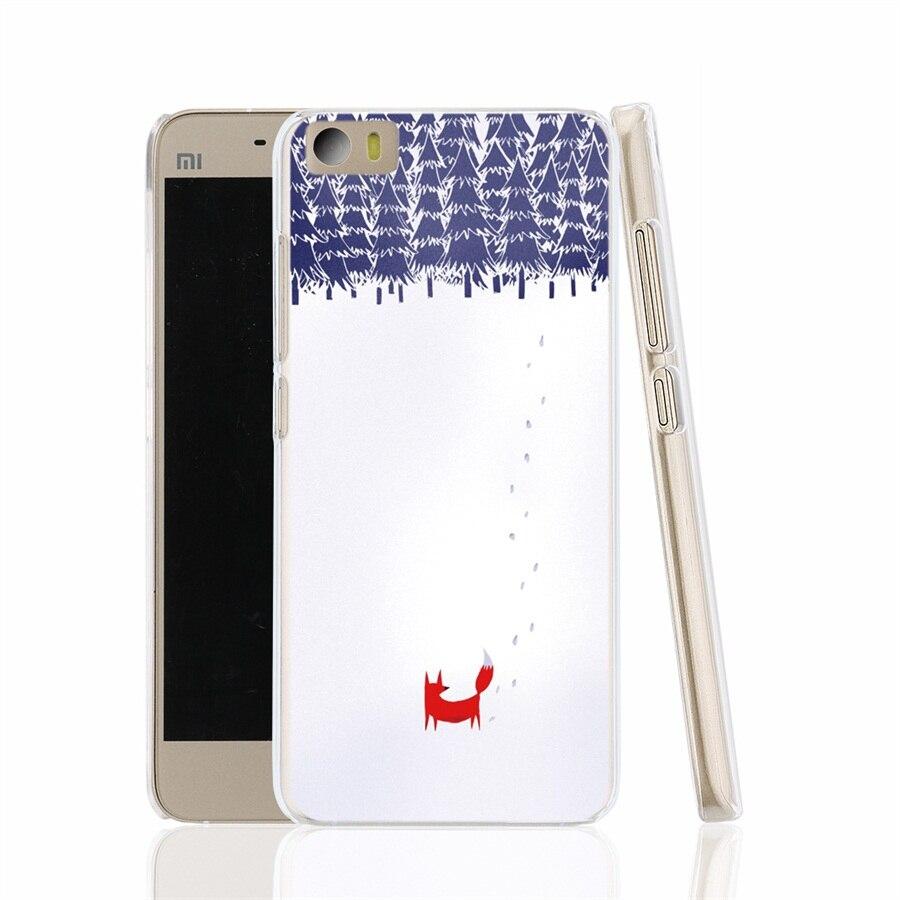 12723 fox forest winter cell font b phone b font font b Cover b font Case