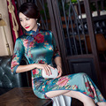 Long Section Of The New Spring And Summer Cheongsam 2017 Double-Decker Retro Banquet Etiquette Women Dress Slim Dress 1137
