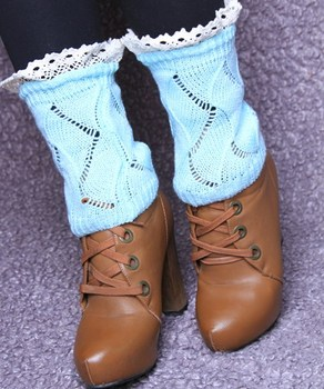 New Lace Crochet Knit Leg Warmers Boot Cuffs Toppers Boot Socks 23pairs/lot #3913