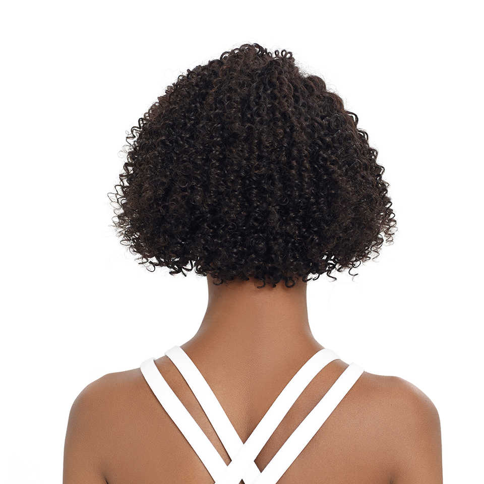 Pelucas de pelo humano de frente de encaje Remy Forte pelucas de cabello humano rizado Real corto Peluca de Cabello 100% pelucas de cabello brasileño Remy U pelucas de encaje para las mujeres