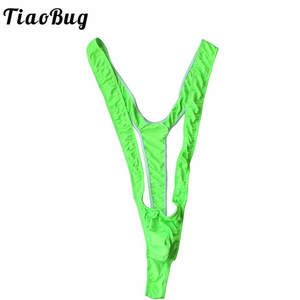 8df7ac2e0d TiaoBug Sexy Mankini Thong Open Borat Swimsuit Men Lingerie