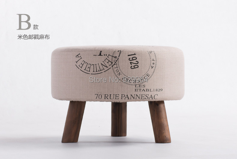 100% wood foot cloth art sofa,100% Cotton fabric,leisure chair,solid wood furniture,solid wood sofa,Wait for the stool wooden furniture fashion shoes stool wood ottoman stool dressing minimalist pure cotton fabric sofa wood furniture wait stool